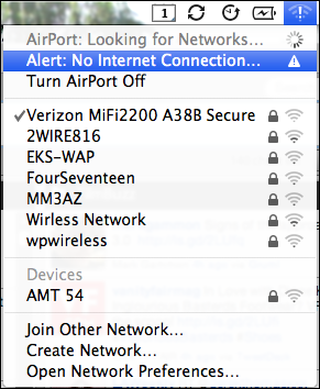 Mac OS X Snow Leopard: Why does my wifi icon have an