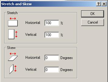 stretch and skew dialog