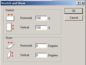 stretch and skew dialog