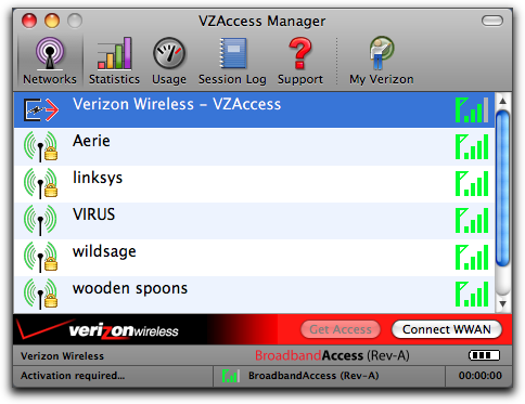 vzaccess manager mac main
