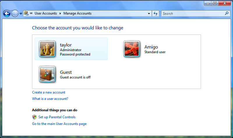 how to delete all microsoft account from laptop