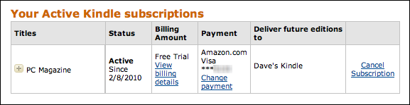 active amazon kindle subscriptions