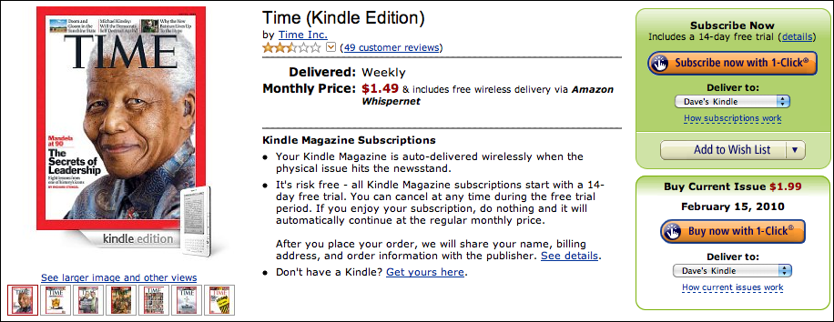amazon time magazine kindle edition