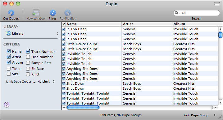 apple itunes duplication dupin 2