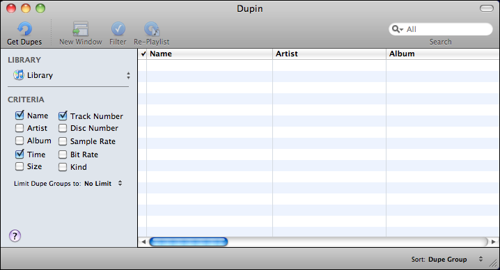 apple itunes duplication dupin