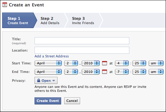 how to find events on facebook