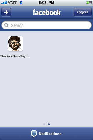 facebook iphone favorite page added