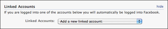 facebook my account settings linked accounts 2