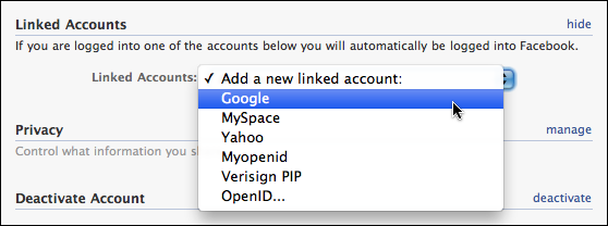 facebook my account settings linked accounts 3