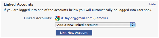 Can i connect my gmail and facebook accounts ask dave taylor facebook my account settings linked accounts gmail ccuart Images