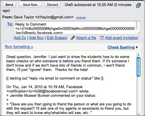Flirter over e-mail