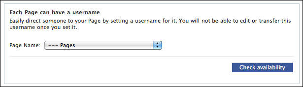 facebook username set custom url 1