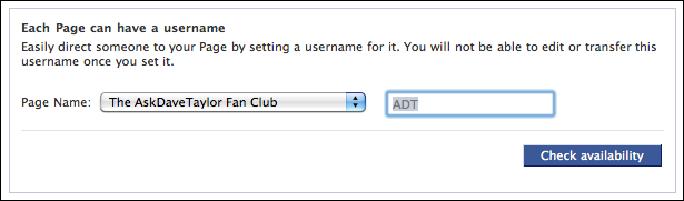 facebook username set custom url 3
