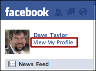 facebook view my profile
