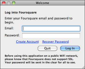 foursquarex login