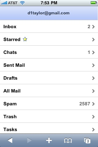 gmail iphone folders labels 2