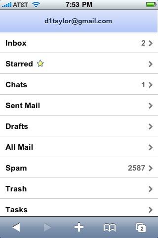 gmail iphone folders labels 2