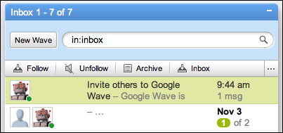 google wave inbox
