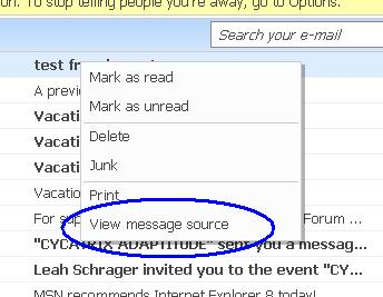 How do I view the full headers of email in MSN Hotmail? - Ask Dave