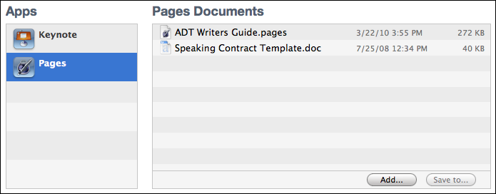ipad add pages msword documents added