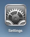 ipad icons settings