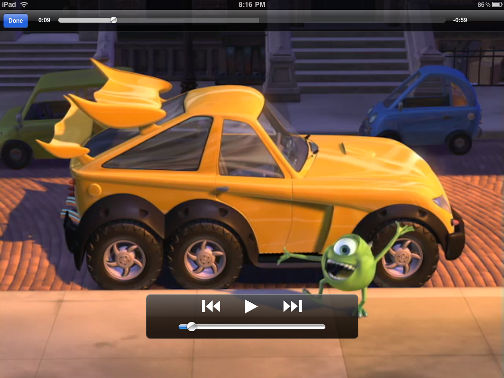 ipad itunes movie preview mikes new car