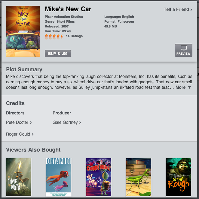 ipad itunes movie summary