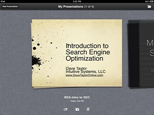 ipad keynote presentation ready
