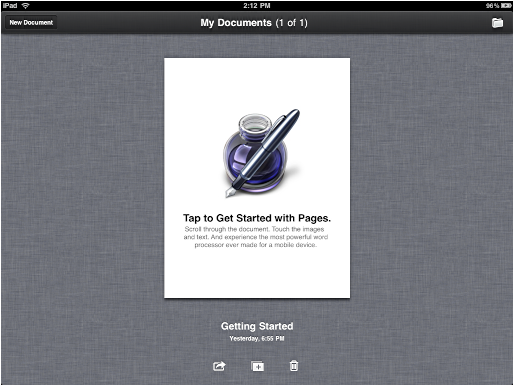 ipad pages get started