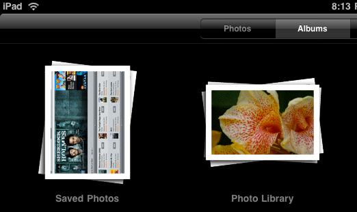 ipad photos albums