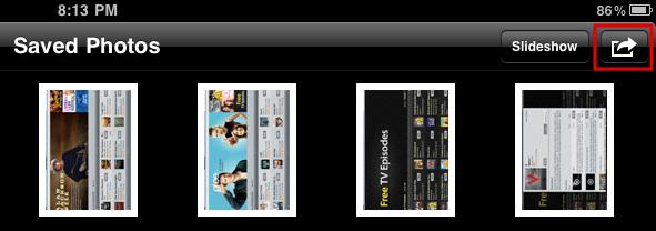 ipad photos saved photos