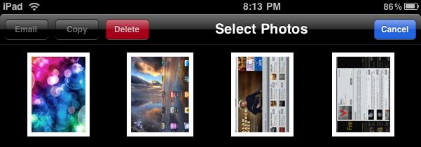 ipad photos select photos