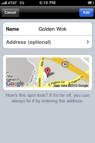 iphone foursquare add venue 5