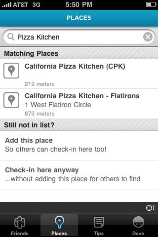 iphone foursquare duplicate locations