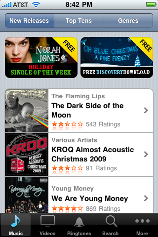 iphone itunes store