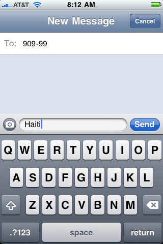 iphone text txt message haiti 5