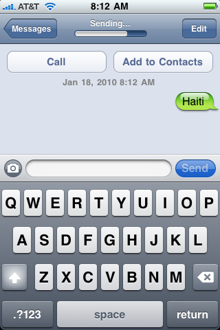 iphone text txt message haiti 6