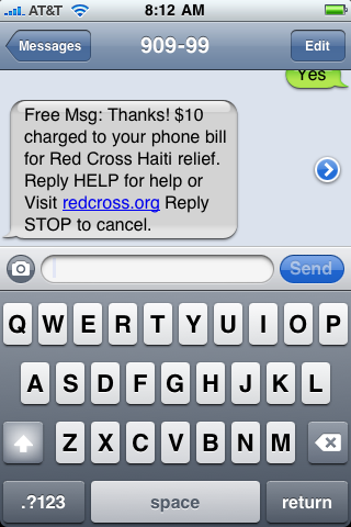 iphone text txt message haiti 9