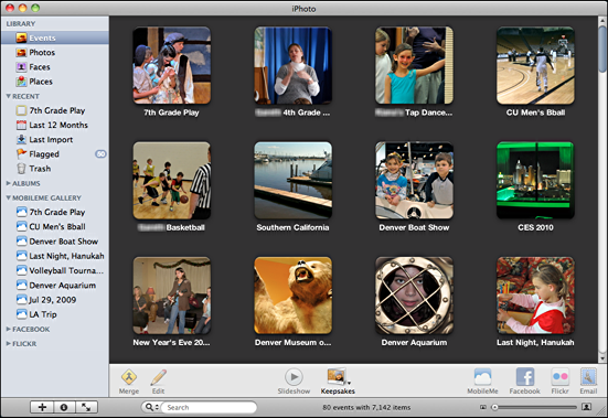 iphoto event albums