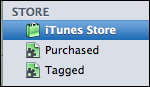 itunes left menu store