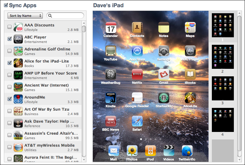 mac itunes ipad manage apps 1