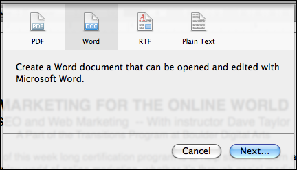 mac pages file export microsoft word