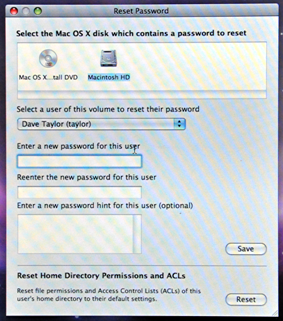 how to change password user in mac