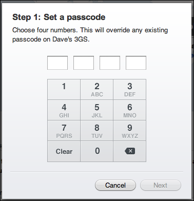 mobileme remote passcode lock 2