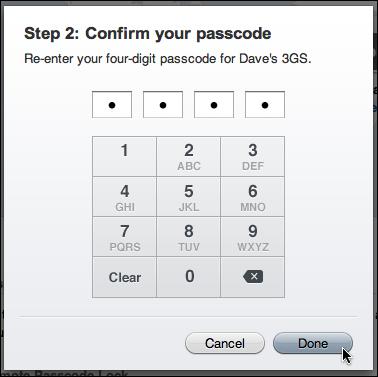 mobileme remote passcode lock 3