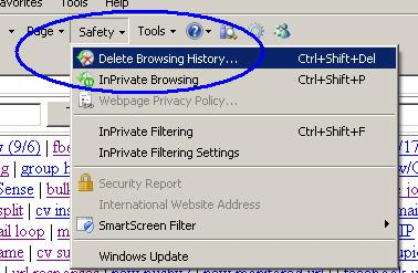 How can I delete my browsing history - 26.8KB
