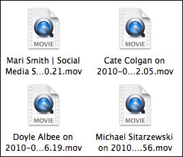 saved calls folder entries