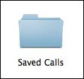 saved calls folder