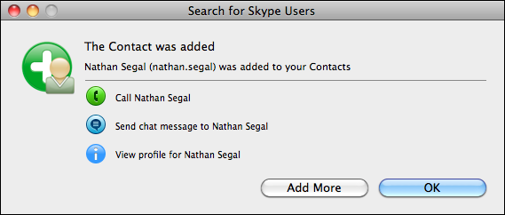 skype contact friend connected