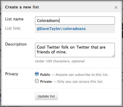 twitter lists edit list